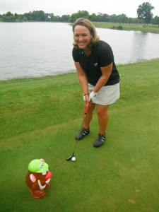 Leighann Albaugh, PGA and a putting lesson with Coach Potato head in Richmond Virginia