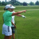 Leighann Albaugh, PGA provides on course golf playing lessons in Richmond that teach golfers strategy for club selection and the mental game of golf