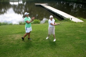 In golf, short game shots including chipping and pitching are best learned on the golf course during golf lessons in Richmond, Virginia with Leighann Albaugh PGA professional