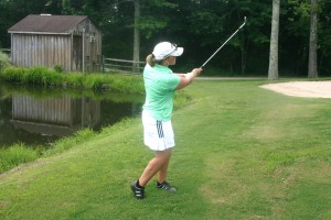 Short game shots including the flop shot and pitch shot are best learned during golf lessons in Richmond Virginia from PGA professional Leighann Albaugh