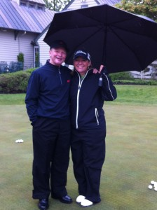 Leighann Albaugh got to meet the king of short game practice