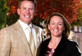 Leighann Albaugh with the golf channel's The Golf Fix host Michael Breed